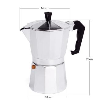 6 CUP MOKA Espresso Coffee Maker Percolator Perculator Stove TopNEW - 3