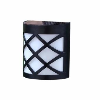 6 Pack Retro 6 LED Solar Powered Outdoor Path Light Yard Fence Gutter Garden Wall Lamp - intl - 2