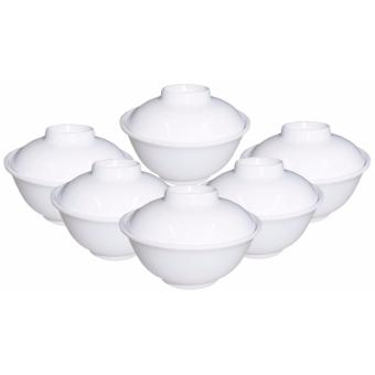 6-pc 4.75'' Miso Bowl With Cover- White Price Philippines