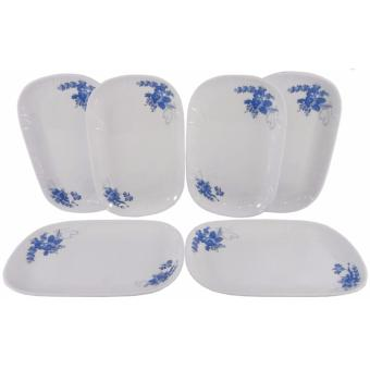 6-pc 8.25'' Rectangular Plate (Blossom Design) Price Philippines