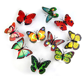 6 PCS LED Colorful Butterfly Shape Night Lights Home And Christmas Party Decorative Lights Bedside Lamp