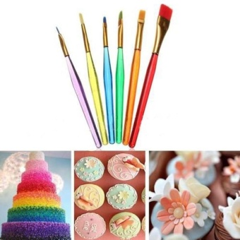 6 Pcs/ Set Multi-color Candy Cake Icing Decor Paint Brushes Set -intl Price Philippines
