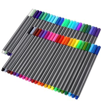 60 PCS Fine Line Fineliner Color Colored Pen Set Sketch Drawing Pen60 Assorted Colors - intl