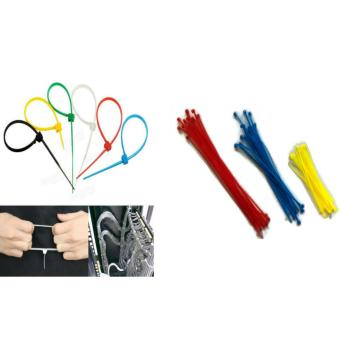60 Pcs. Mixed Colors Nylon Plastic Cable Wire Zip Tie Cord Strap