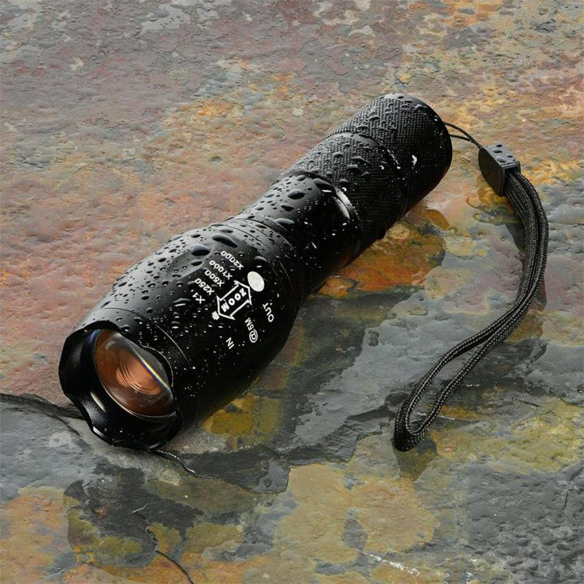6000LM Shadowhawk X800 L2 LED ZOOM Flashlight Torch Powerfulbattery Black - intl