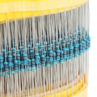600pcs Professional Metal Film Resistor Package Blue - intl