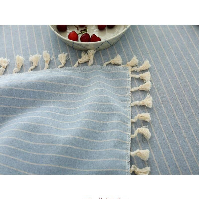 ... 60*60cm Japanese Style Cotton Linen Fabric Tablecloths Modern Simple  Plain Colour Rectangle Tea Table ...