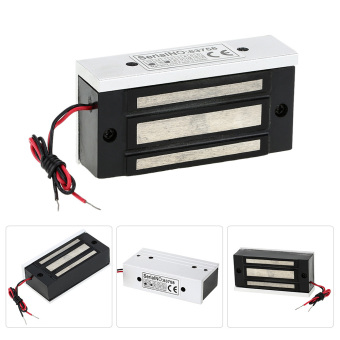 60KG/132lb Electric Magnetic Lock + Door Switch + DC12V PowerSupply for Door Entry Access Control System - 4
