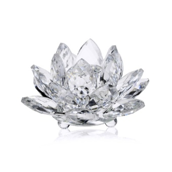 60mm K9 Crystal Lotus Flower for Home Decoration, Wedding Favor,Holiday Gift - intl Price Philippines