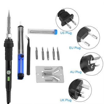 60W Adjustable Temperature Electric Soldering Iron Kit Welding Starter Tool US - intl