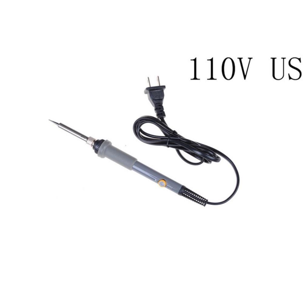 ... 60w Tool Welding Soldering Iron Gun 220v Electric Solder PlugPencil Temperature Grey 110-US ...