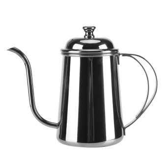 650ML Stainless Steel Gooseneck Spout Kettle Pour Over Coffee TeaHome Brewing Drip Pot Silver - intl
