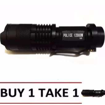 #68 Type Rechargeable Cree LED Flashlight (Black)Buy1 Take1