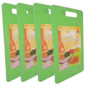 6806 Colored Plastic Chopping Board Green Set of 4