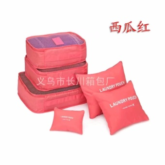 6in1 Travel Foldable Toiletry Cosmetic Laundry Bag Pouch