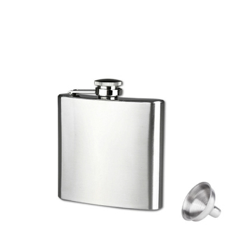 6Oz Stainless Steel Pocket Hip Flask Alcohol Whiskey Liquor ScrewCap (Silver) - intl