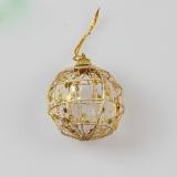 6pcs Christmas Xmas Tree Gold Ball Baubles Hanging Party Ornament Decoration Pendants Size:5cm - intl
