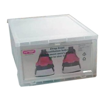 6pcs Combo Hitop Drop Front Plastic Shoe Boxesstockable/Multi-purpose storage box (Clear) - 4