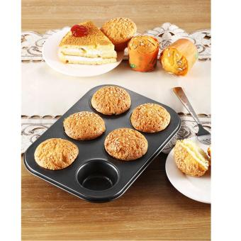 6pcs Non-Stick Cupcake Baking Mold