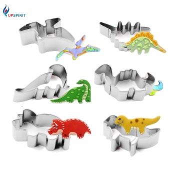 6PCS/Set Dinosaur Biscuit Stainless Steel Cutter Mold - intl