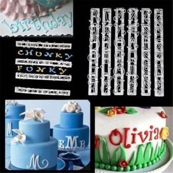 6Pcs/Set New Fondant Cake Alphabet Number Letter Decorating Cutter Sugarcraft Mold Mould - intl