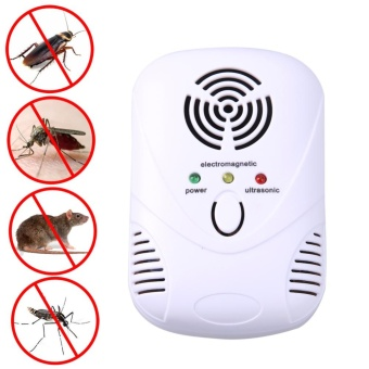 6W Electronic Ultrasonic Mouse Killer Mouse Cockroach Trap Mosquito Repelle(White) - intl - 3