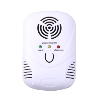 6W Electronic Ultrasonic Mouse Killer Mouse Cockroach Trap MosquitoRepelle(White) - intl