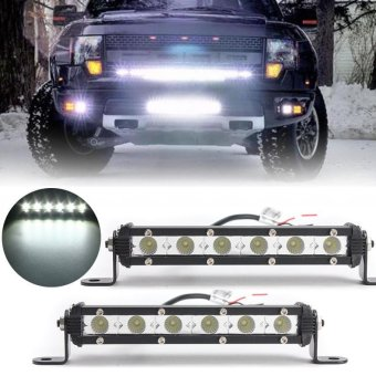 7 inch 36W CREE Flood LED Work Light Bar Fog Driving Offroad Boat - intl