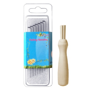 7 PCS Felting Needles Set with Wooden Handle Wool Felting Tool7.8cm Length - intl