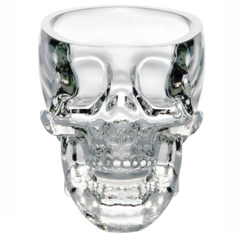 73ml Crystal Skull Head Vodka Shot Drinking Ware Wine Glass Cup for Home Bar Party