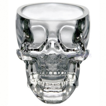 73ml Crystal Skull Head Vodka Shot Drinking Ware Wine Glass Cup for Home Bar Party - picture 2