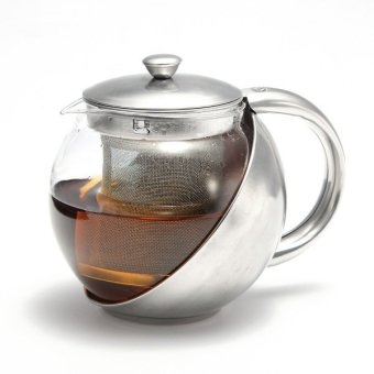 750ml Glass Teapot Herbal Tea Leaf Infuser Filter (Stainless Steel)