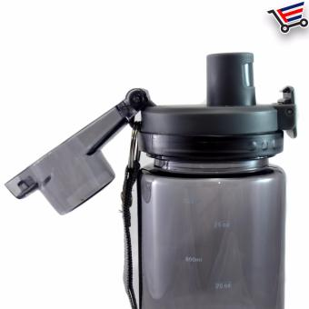 750ml Transparent Stundent Tumbler with Filter and Safety Lock(Black) - 4
