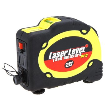 7.5m Measuring Tape Lasern Level Pro 3 Measuring Equipment with2Way Level Bubbles and Laser Power On/Off - intl