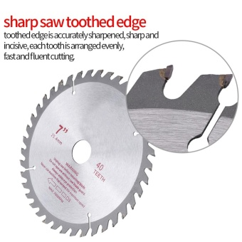 7inches 40T Teeth Cemented Carbide Circular Saw Blade Wood ToolBore Diameter (25.4mm) - intl