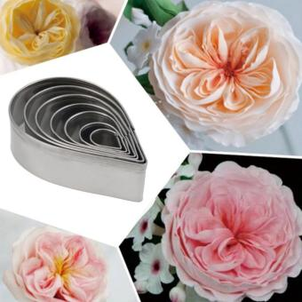 7Pcs Kitchen Baking Rose Petal Cookie Cake Cutters Biscuit PastryMould - intl