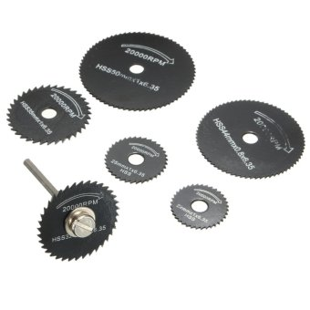 7Pcs Wheel Cutting Blades Set HSS Saw Disc for Dremell Drills and Rotary Tools Audew