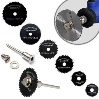 7pcs/set HSS Saw Blades For Dremel Rotary Tool Woodworking Cutting Discs Wheel with 1pc Mandrel Easy to Use Best Promotion
