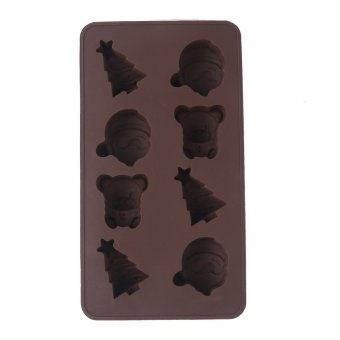8 Cavity Christmas Series Silicone Handmade DIY Cake Mold Baking Mould (Intl) - picture 2
