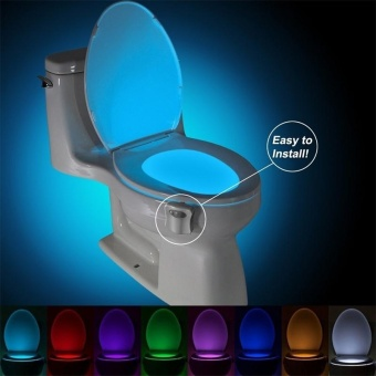 8 Colors Human Motion Sensor Toilet Light Bathroom Night Light -intl Price Philippines