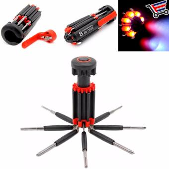 8 in 1 Multi purpose Srewdriver Set with Led Torch Light - 3