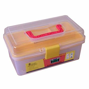 8 Inch Prostar Clear Multi Purpose Plastic Tool Box