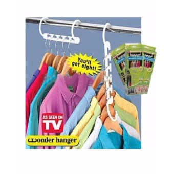 8 Pieces Portable Space Saver Wonder Magic Hanger Coat Clothes Closet Organizer