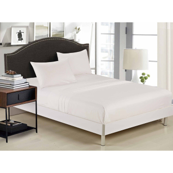 800TC 100% Pure Cotton (4pc Sheet Set) Queen King Sheet Set SizeBed New White - intl