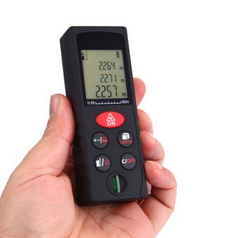 80m/262ft Mini Handheld Digital Laser Distance Meter Range Finder Area Volume Measurement Level Bubble - intl