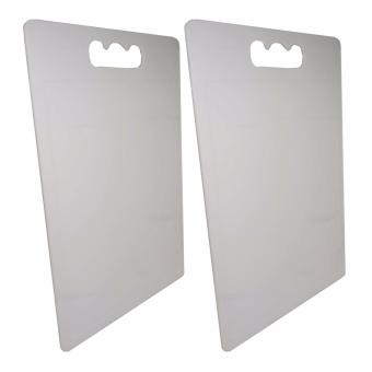 8802 Plastic Chopping Board White Set of 2