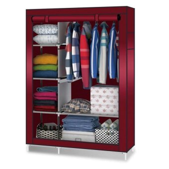 88105 Storage Wardrobe Clothes Organizer(Red)