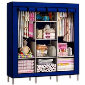 VERY BIG SIZE BEST QUALITY Fashion Cloth Storage Wardrobe (Blue)  sc 1 st  Check Price and Goods & Price List New Xzy 88130 Fashion High Capacity Cloth Storage ...