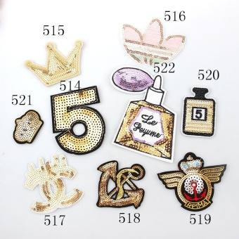 8pcs/lot Clothes Embroidered Iron Patches Cloth Sequins Patch DIYSew Iron Appliques Garment Accessory Hot Fix Motifs - intl