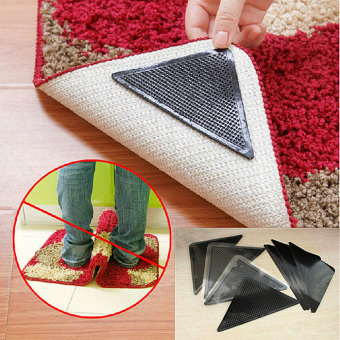 8x RUGGIES RUG CARPET MAT GRIPPERS NON SLIP SKID REUSABLE WASHABLEGRIPS TOOL - Intl - 4